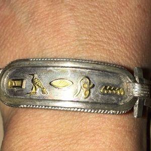 """Egyptian Hieroglyphics Bracelet - """"Sharon"""""""